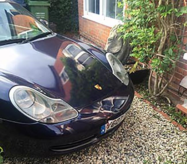 Boarding Up Required to Salvage Porsche Damage at Chalfont Home